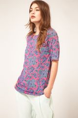 ASOS Collection Asos T-shirt with Bright Paisley Print - Lyst