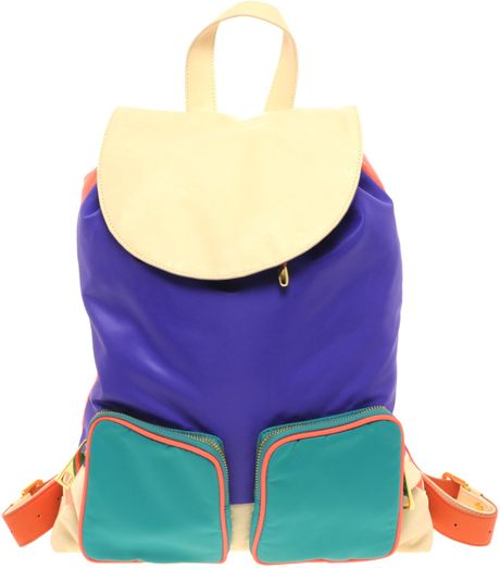 Asos Collection Asos Colour Block Nylon Backpack in Multicolor (multi) - Lyst