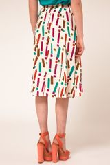 Asos Full Skirt In Neo Rave Print in Multicolor (multi) - Lyst