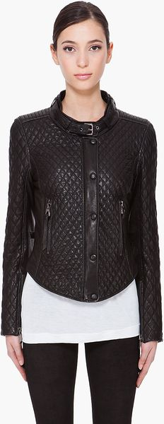 Barbara Bui Quilted Motorcycle Jacket - Lyst