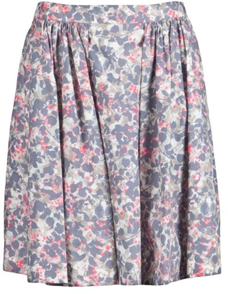 Cacharel Printed Skirt in Multicolor (grey) - Lyst