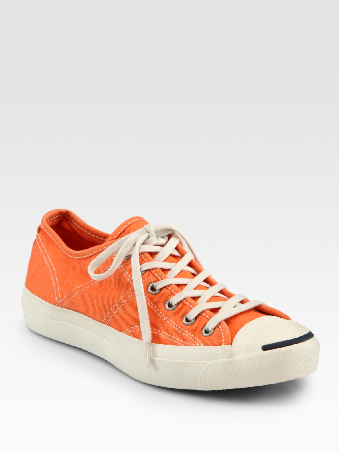 Converse Lux Jack Purcell Lace Up Sneakers In Orange Lyst