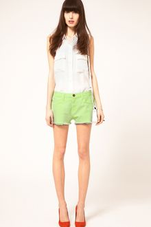 Current/Elliott Current/elliott Boyfriend Shorts in Solid Neon - Lyst