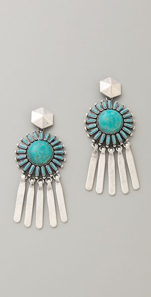 Dannijo Satvi Earrings in Blue (turquoise) - Lyst