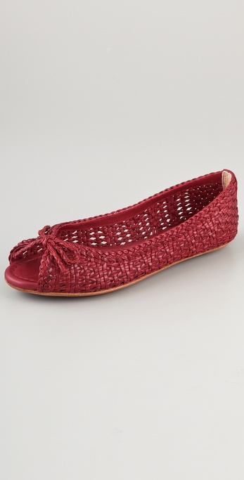 Frye Womens Red Woven Shoes