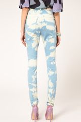 House Of Holland Bleach Jean With High Waist in Blue - Lyst