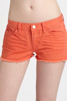 J Brand Low-rise Cut-off Shorts - Lyst