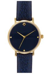 Kate Spade Metro Leather Strap Watch - Lyst
