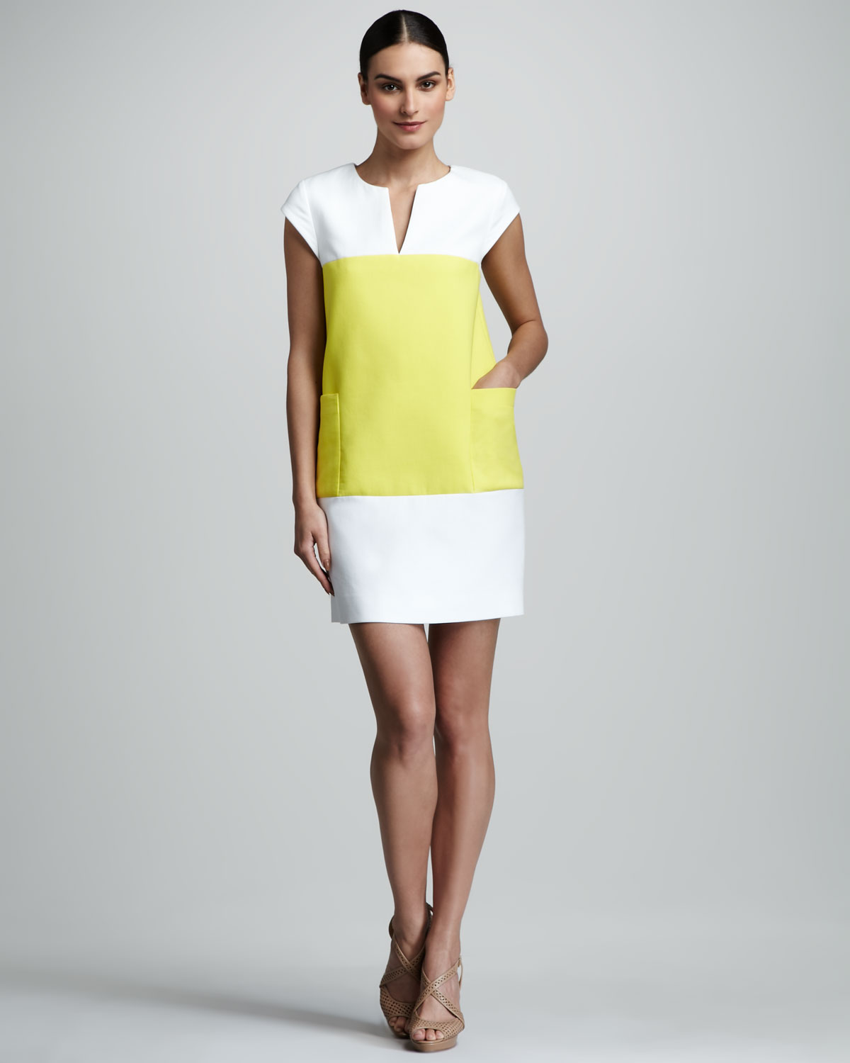 Shop color block Dresses online,Dresses with cheap wholesale price,shipping to worldwide.