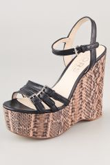 Kors By Michael Kors Jacinda Snake Wedge Sandals - Lyst