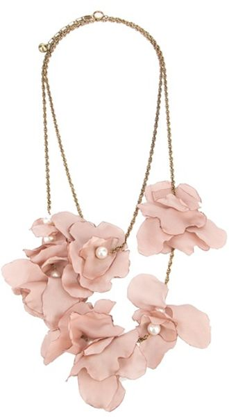 Lanvin Silk Flower Necklace - Lyst