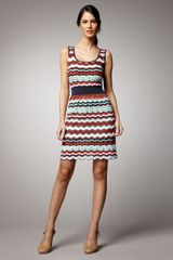 M Missoni Zigzag Sleeveless Dress - Lyst