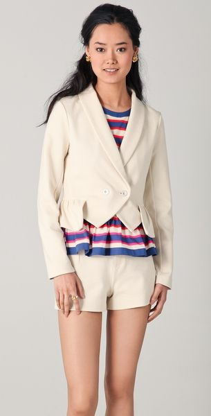 Marc By Marc Jacobs Adie Knit Blazer in Beige - Lyst