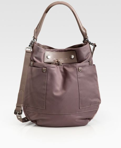 Marc By Marc Jacobs Preppy Nylon & Leather Hobo Bag in Brown (hazelnut)