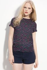Marc By Marc Jacobs Kayla Print Silk Blouse - Lyst