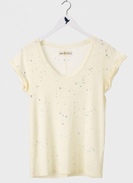 Mih Jeans The Scoop Neck Tee in Beige (primrose splatter) - Lyst