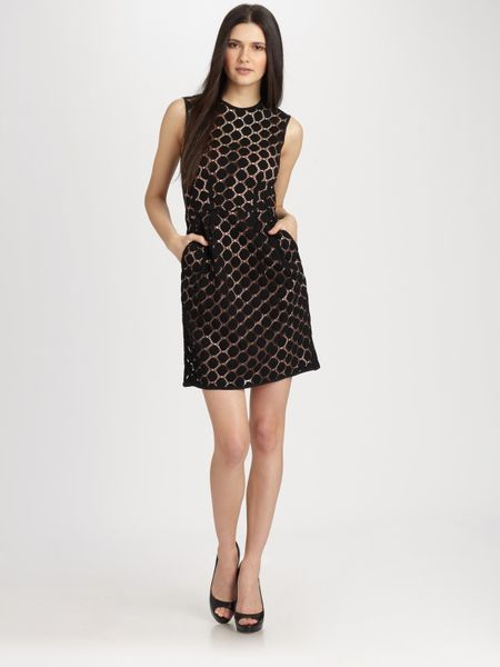Nanette Lepore Dare Devil Dress In Black Lyst