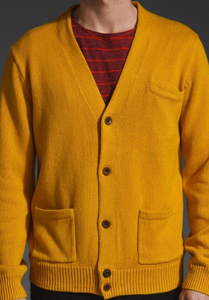 Mustard Cardigan Sweater