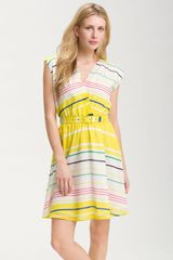 Presley Skye Sloane Belted Stripe Dress - Lyst