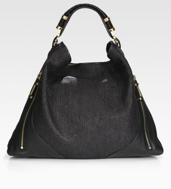 Rachel Zoe Joni Raffia & Leather Hobo Bag - Lyst