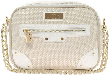 River Island Weave Box Bag in Beige (white) - Lyst