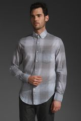 Shades Of Grey By Micah Cohen Standard Button Down Shirt - Lyst