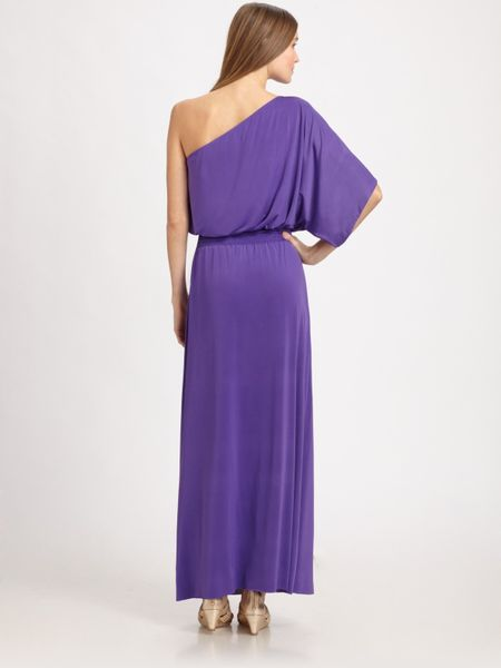 bags One Shoulder Maxi Dress in Purple