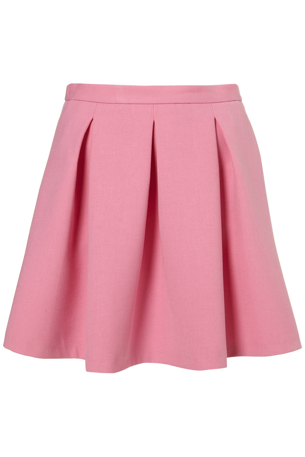 Lyst - TOPSHOP Invert Pleat Flippy Skirt in Pink