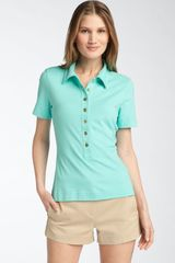 Tory Burch Walker Polo in Blue (blue lagoon) - Lyst