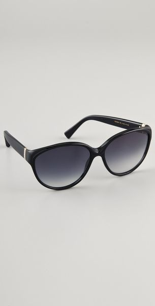 Saint Laurent Cat Eye Sunglasses in Black - Lyst
