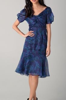 Zac Posen Short Sleeve Floral Dress - Lyst