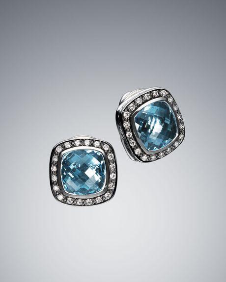 david yurman 11mm blue topaz moonlight earrings in