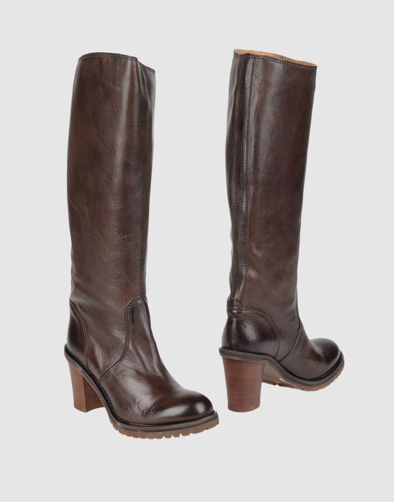 halmanera high heeled boots in brown lyst