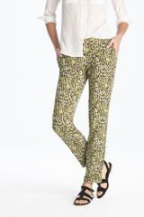 J.Crew Café Capri in Abstract Leopard - Lyst