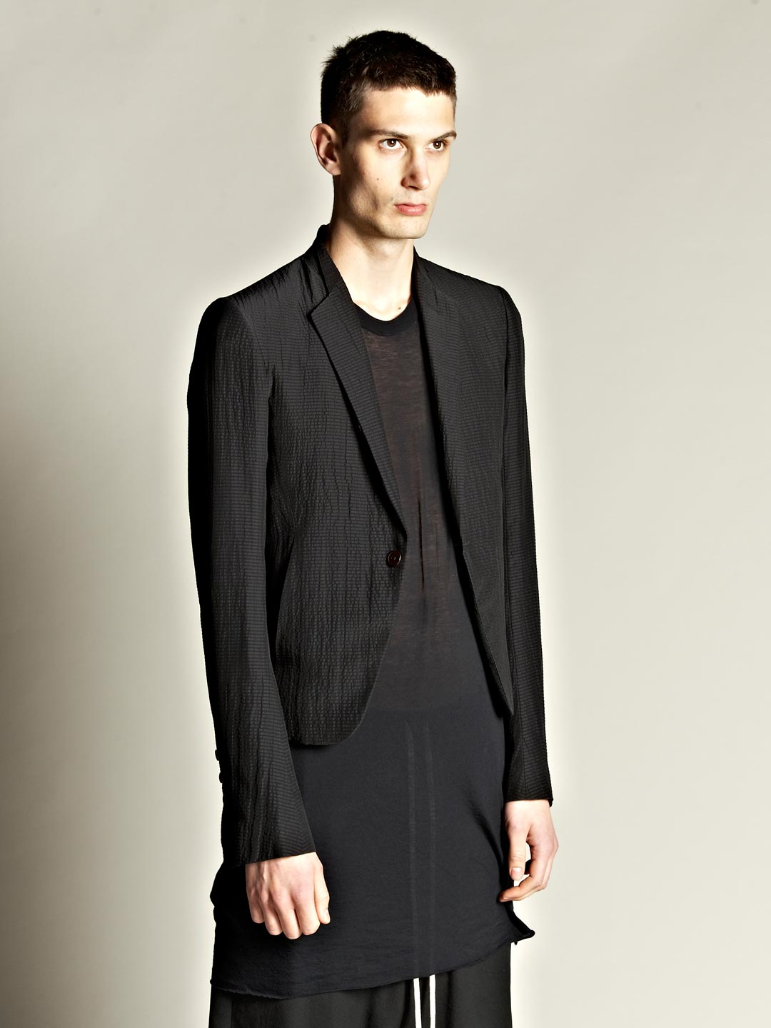 Rick owens Mens Silk Blend Bomber Blazer in Black for Men | Lyst