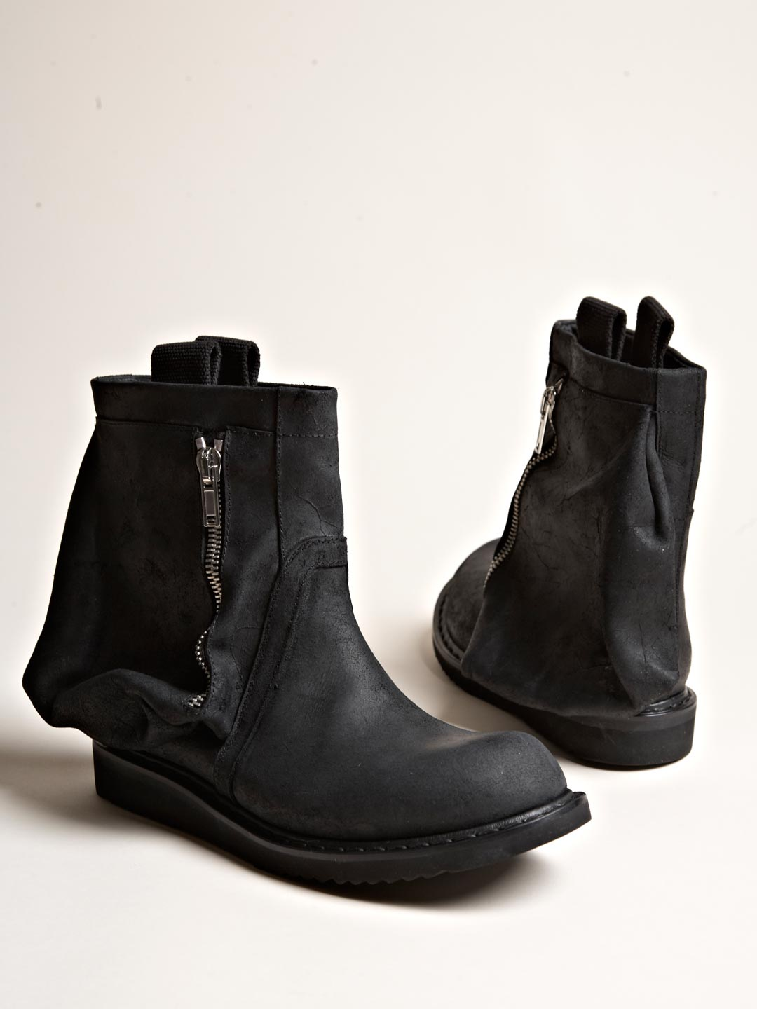 rick owens mens desert engineer boots in black for lyst