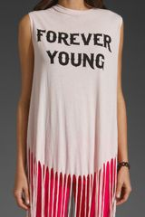 Wildfox Couture Forever Young Gypsy Tank in Pink (ghost pink) - Lyst