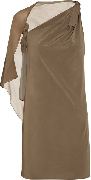 3.1 Phillip Lim Draped Stretch-silk Asymmetric Dress - Lyst