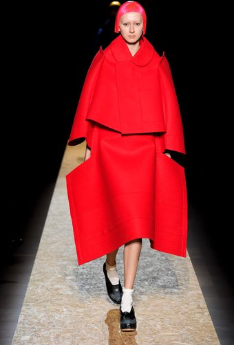 Comme Des Garçons Fall 2012 Felt Cut-Out Cape Dress - Lyst