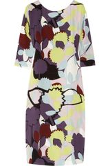 Diane Von Furstenberg Printed Silk-Crepe Dress - Lyst