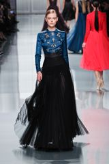 Dior Fall 2012 Sheer Plisse Maxi Skirt  - Lyst