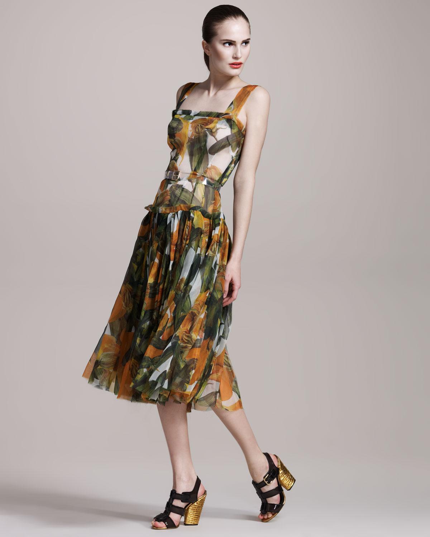 35e2c3d2e1fd Dolce & Gabbana Zucchini-print Dress - Lyst