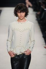 Isabel Marant Fall 2012 White Long Sleeve Blouse With Micro-Stud Applique - Lyst