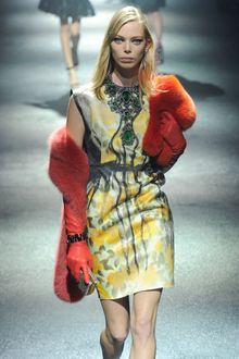 Lanvin Fall 2012 Cap-Sleeved Silk Mini Dress in Floral Motifs - Lyst