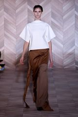 Maison Martin Margiela Fall 2012 Brown Panelled & Slit Maxi Skirt - Lyst