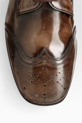 Prada Spazz Wingtip Laceups in Brown for Men - Lyst
