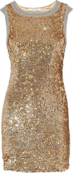Rachel Gilbert Willamina Sequined Silk Dress - Lyst