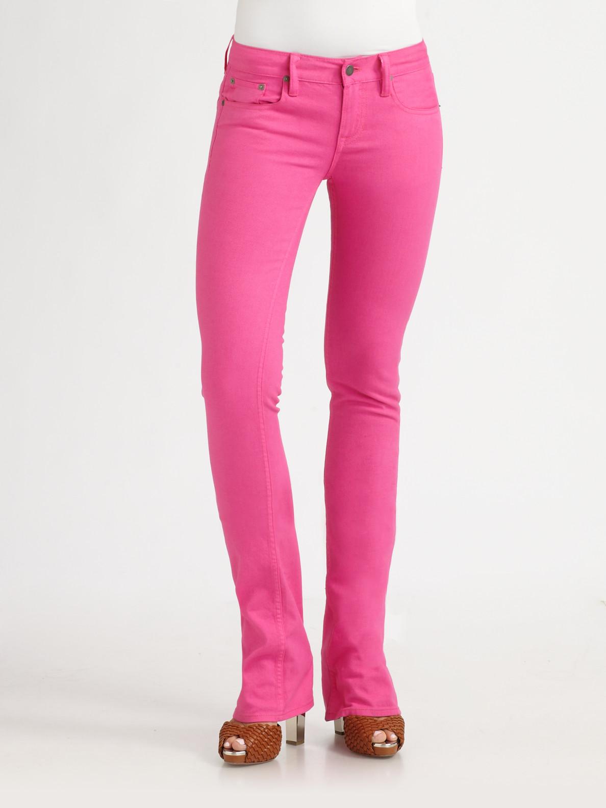 Lyst Ralph Lauren Blue Label Stretch Slim Bootcut Jeans