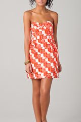 Shoshanna Reilly Zulu Print Party Dress - Lyst