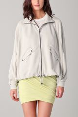 T By Alexander Wang Sandwashed Blouson Jacket - Lyst
